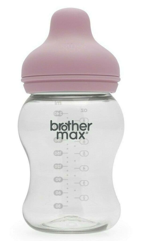 Brother Max - Extra-wide neck Feeding Bottle 250ml/8oz - Pink